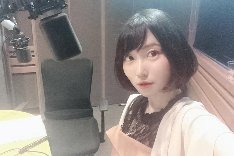 去年 FM-FUJI のラジオに出たときに自撮りした写真