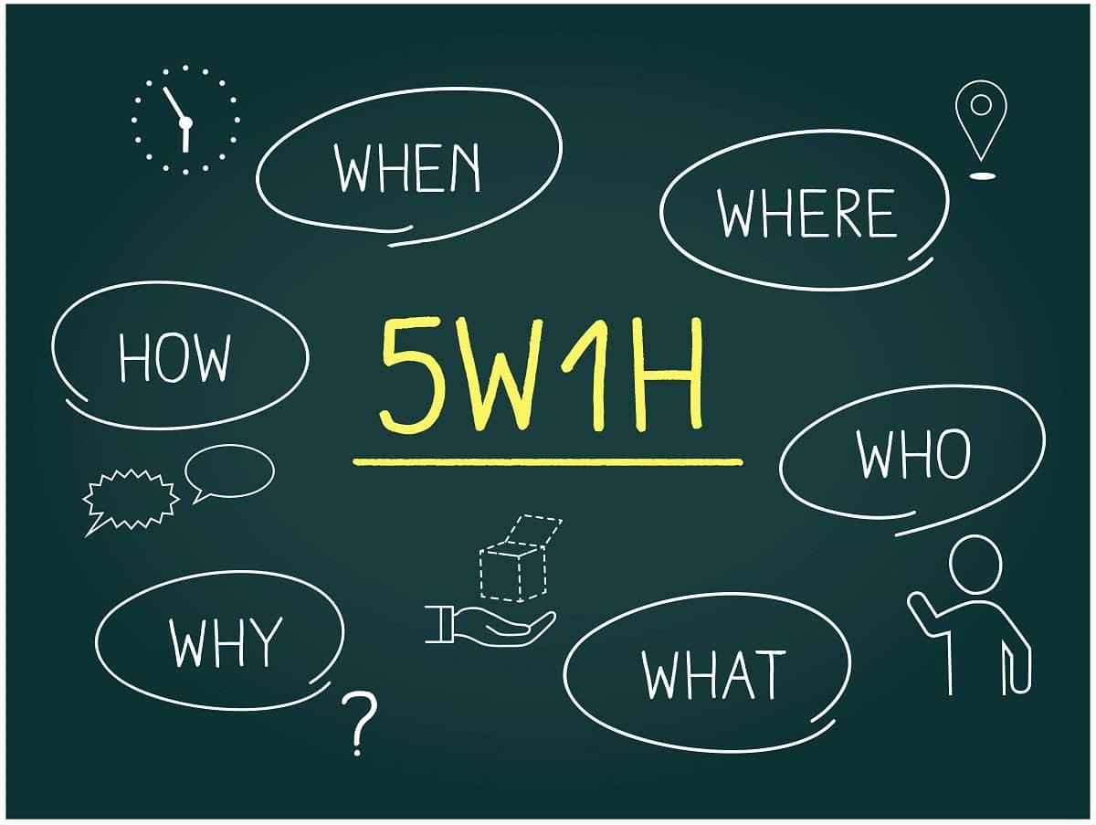 5W1Hのそれぞれの意味とは