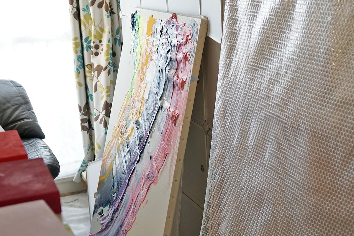 杉田さんの作品は色が見える
