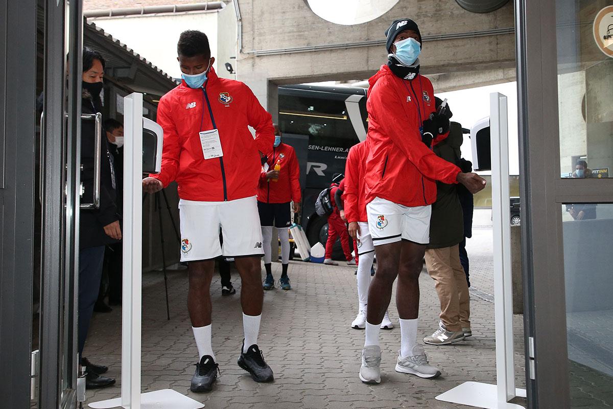 海外の選手も消毒に協力的