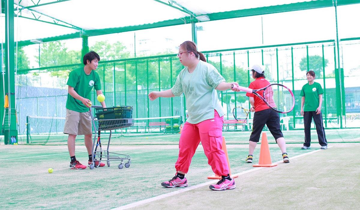 (知的障がいのある方を対象としたテニス教室「Special Tennis」)