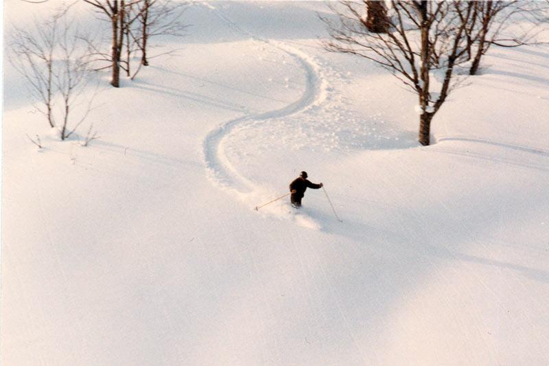 (スキーをしている藤原さん)