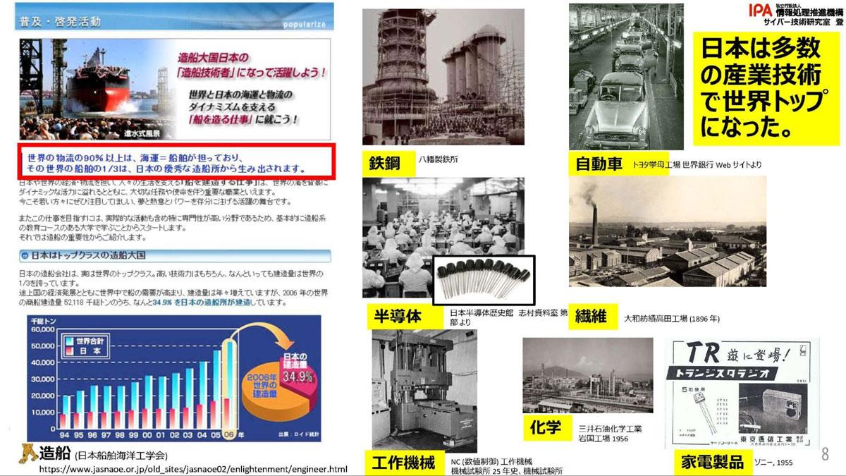 1990年代に日本が産業分野でトップになれた理由
