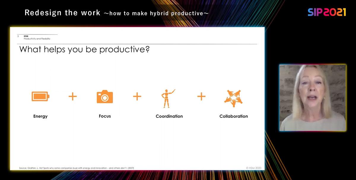 リンダ・グラットン氏が考える生産的な仕事に必要な4つの要素