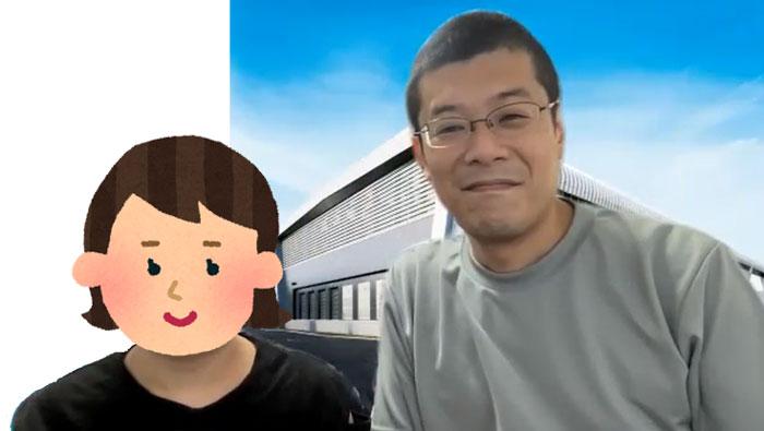 (総務部 情報システム担当の小泉行生さん親子。お子さんは小学5年生)