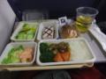 機内食を戴きました