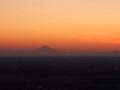 筑波山から見た夕刻の富士