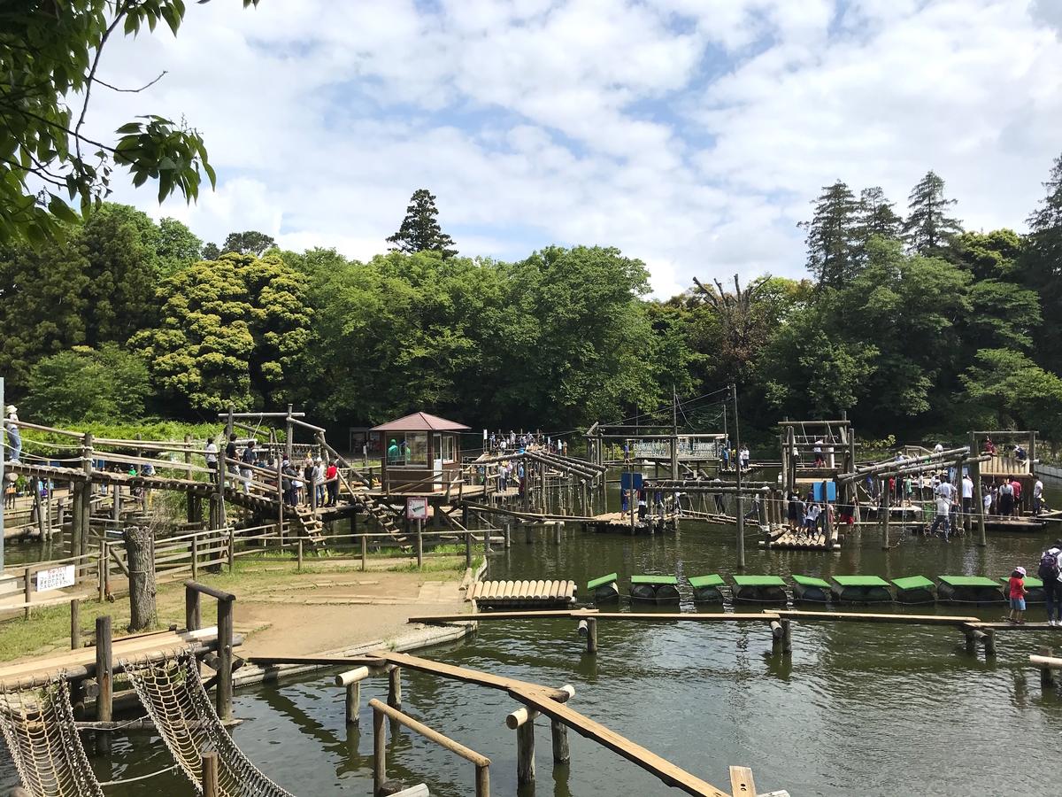 清水公園フィールドアスレチック水上コース