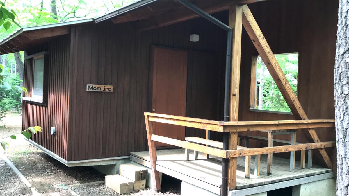 清水公園キャンプ場バンガロー