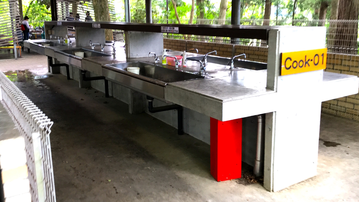 清水公園キャンプ場炊事場