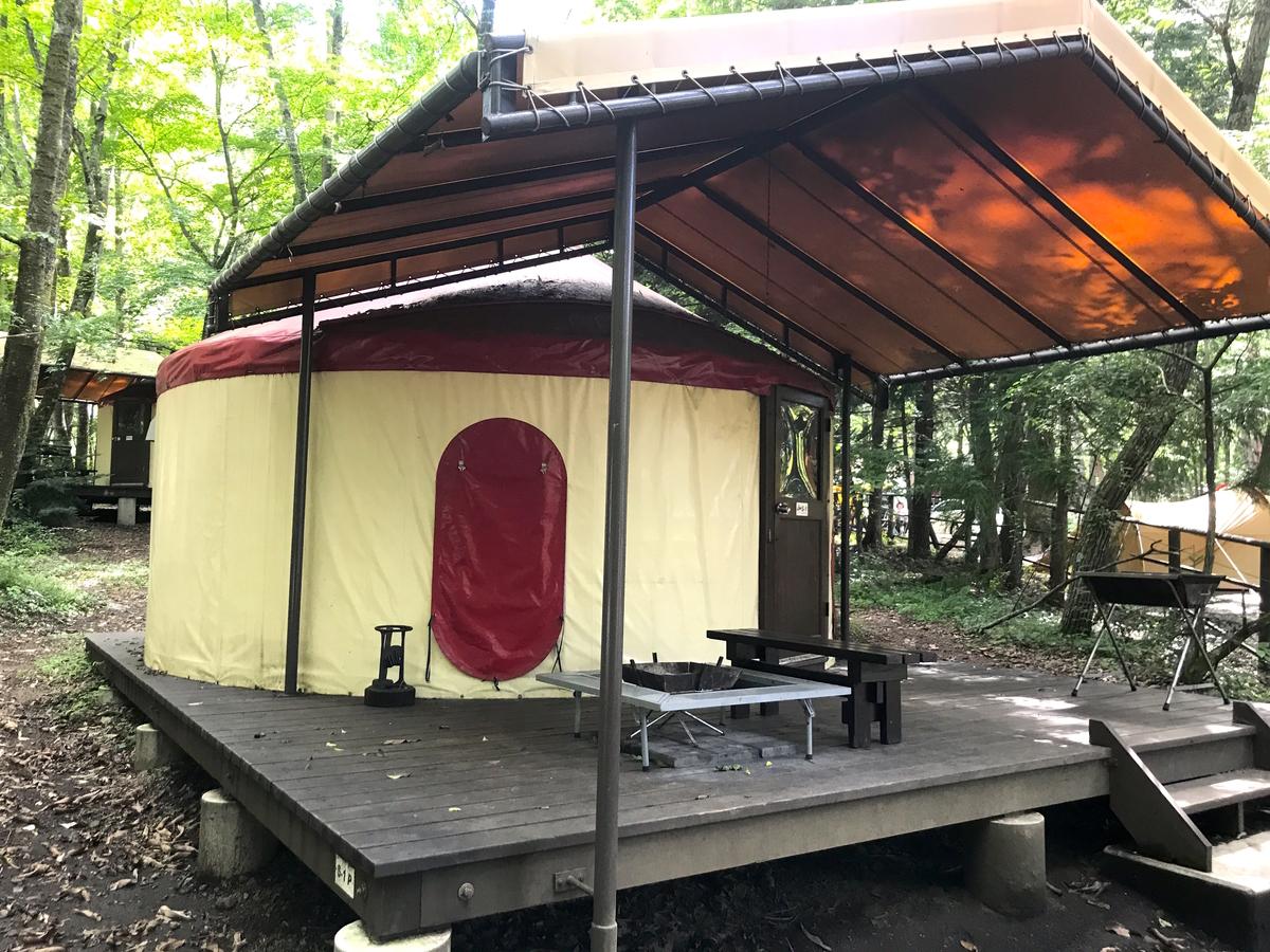 PICA富士吉田キャンプ場マッシュルームパオ「TAKIBI」