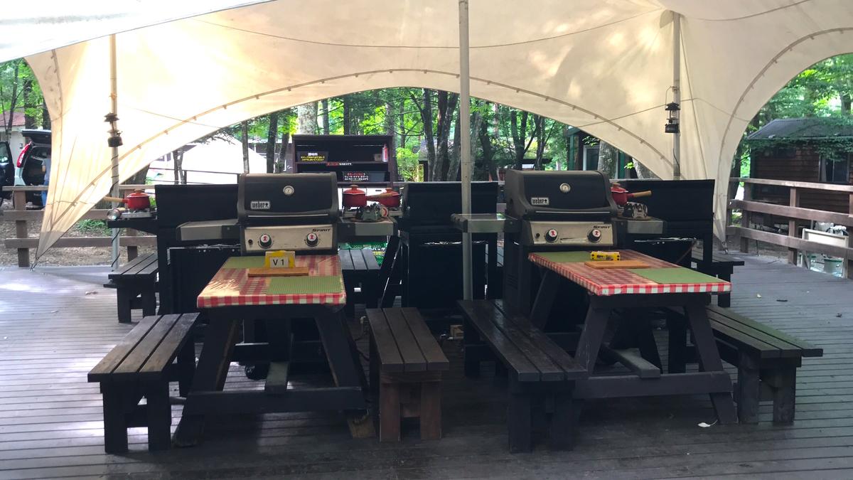 PICA富士吉田キャンプ場テントヴィラ食事