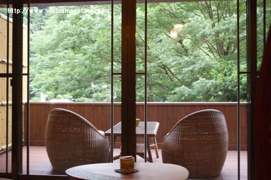 箱根・山の茶屋 バルコニー