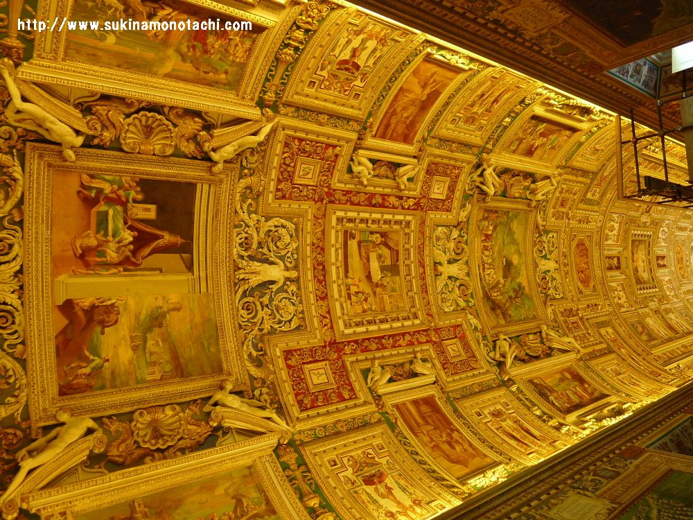 ヴァチカン美術館 地図の間天井