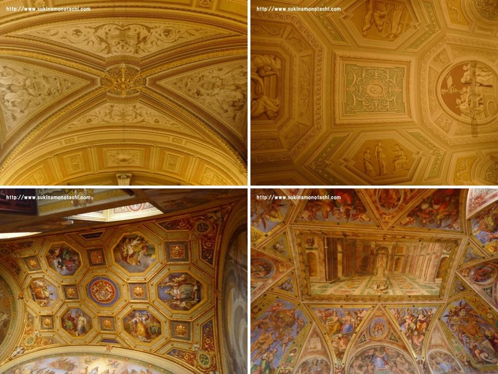 ヴァチカン美術館 天井など