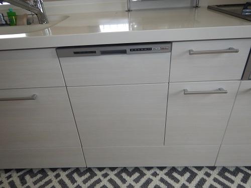 食器洗い乾燥機浅型タイプ扉材使用クリエアイボリー