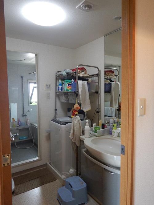 リフォーム前の洗面所
