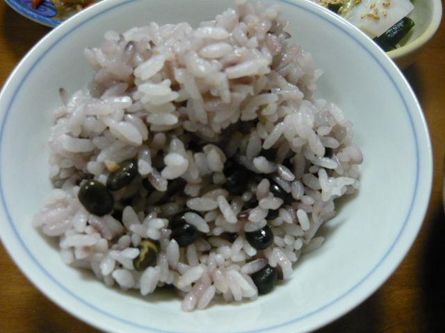 黒千石大豆、豆ご飯