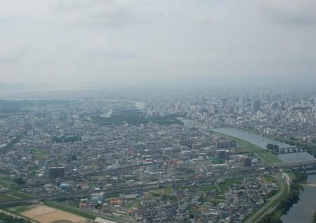 旭川・・・岡山後楽園を俯瞰するの画像