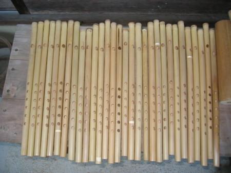 篠笛 (柿渋塗布・・・陰干し)の画像