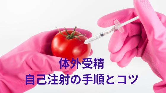 体外受精の自己注射の手順とコツ
