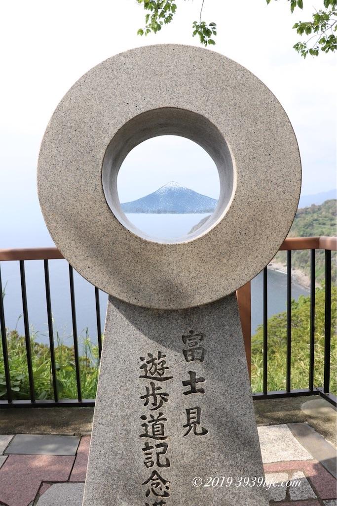 めがね記念碑から見る富士山想像図(笑)