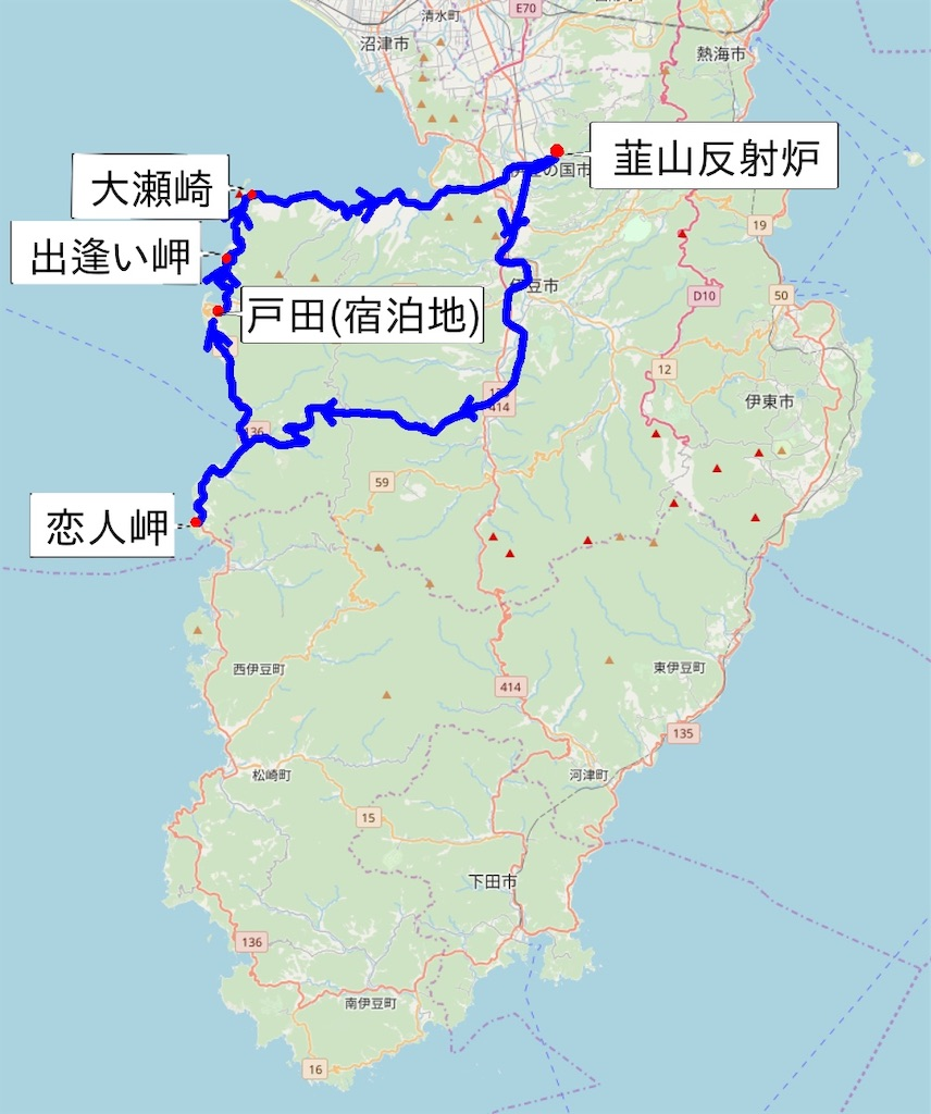 伊豆西海岸 今回の撮影ポイント(韮山反射炉は昨日の記事です)