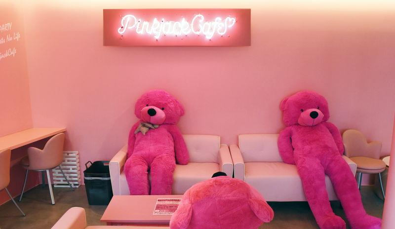 ピンクのくま
