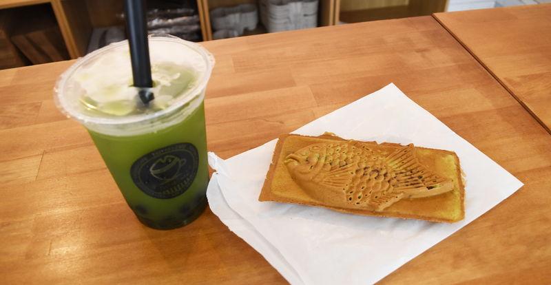 静岡緑茶タピオカとお茶たい焼き