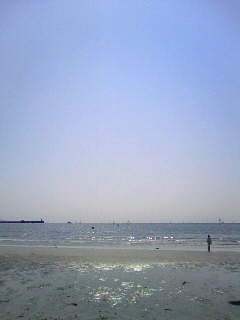 逗子の海岸にて