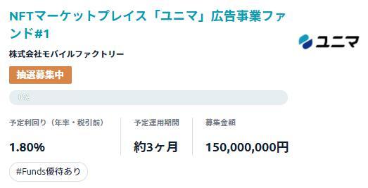 Funds ファンズ ユニマ
