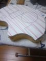 斜め線も入れて型紙作成完了