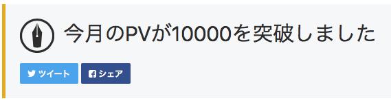 アクセス数1万突破