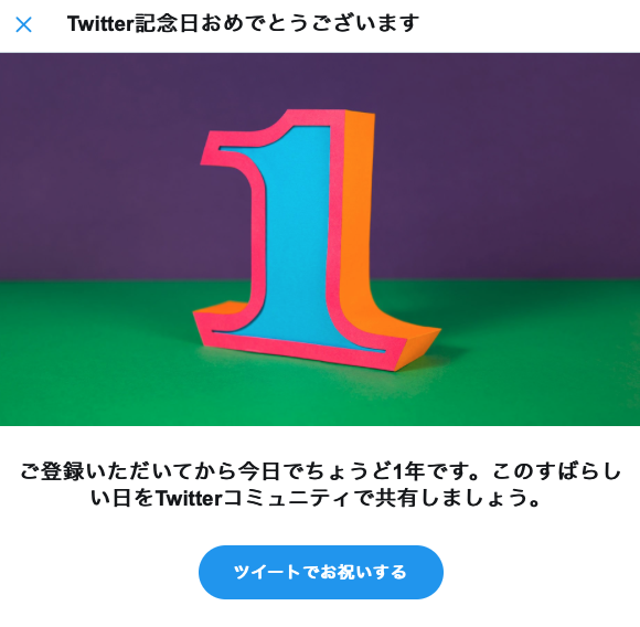 Twitterをはじめて1年