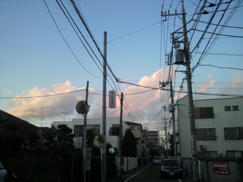 浜田山の雲 20110309