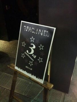 1pacさんの3周年記念パーティーにきてます!