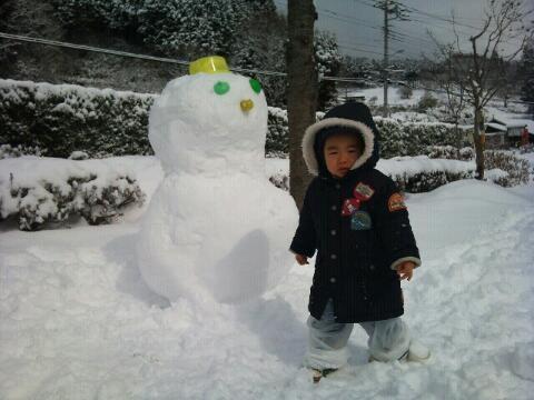 やっと雪遊びできた!