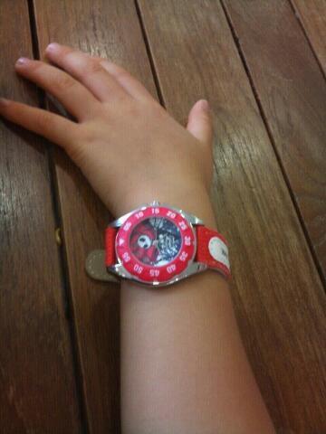 ちっとも時計を読まないので好きなものを買い与えてみたなど、