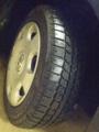 [twitter] 冬タイヤに換装!車重があるからかぐにゃ度はかなり感じる。ハンド
