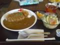 阿部食堂のカツカレーセット