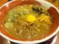 東山崎町「徳島ラーメン麺王」バリかた+生卵