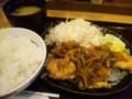 「米食屋」鶏のきのこあんかけ定食