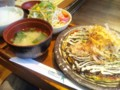 「お寿美瓦町店」お好み焼定食 豚