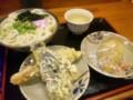 南新町「綿谷」かけうどん小、いなり寿司、茄子の天ぷら、ちくわの天