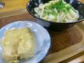 栗林「上原」かけ大、高野豆腐の天ぷら
