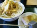 三木町「味泉」かけ大、野菜のかきあげ、おでん(豆腐、こんにゃく)