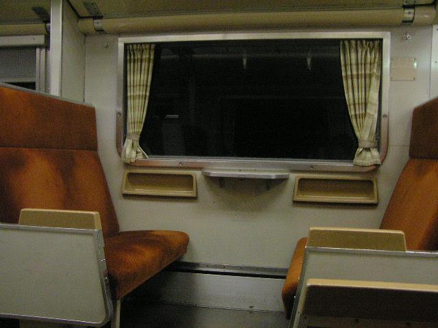国鉄419系 食パン列車 車内 ボックスシート