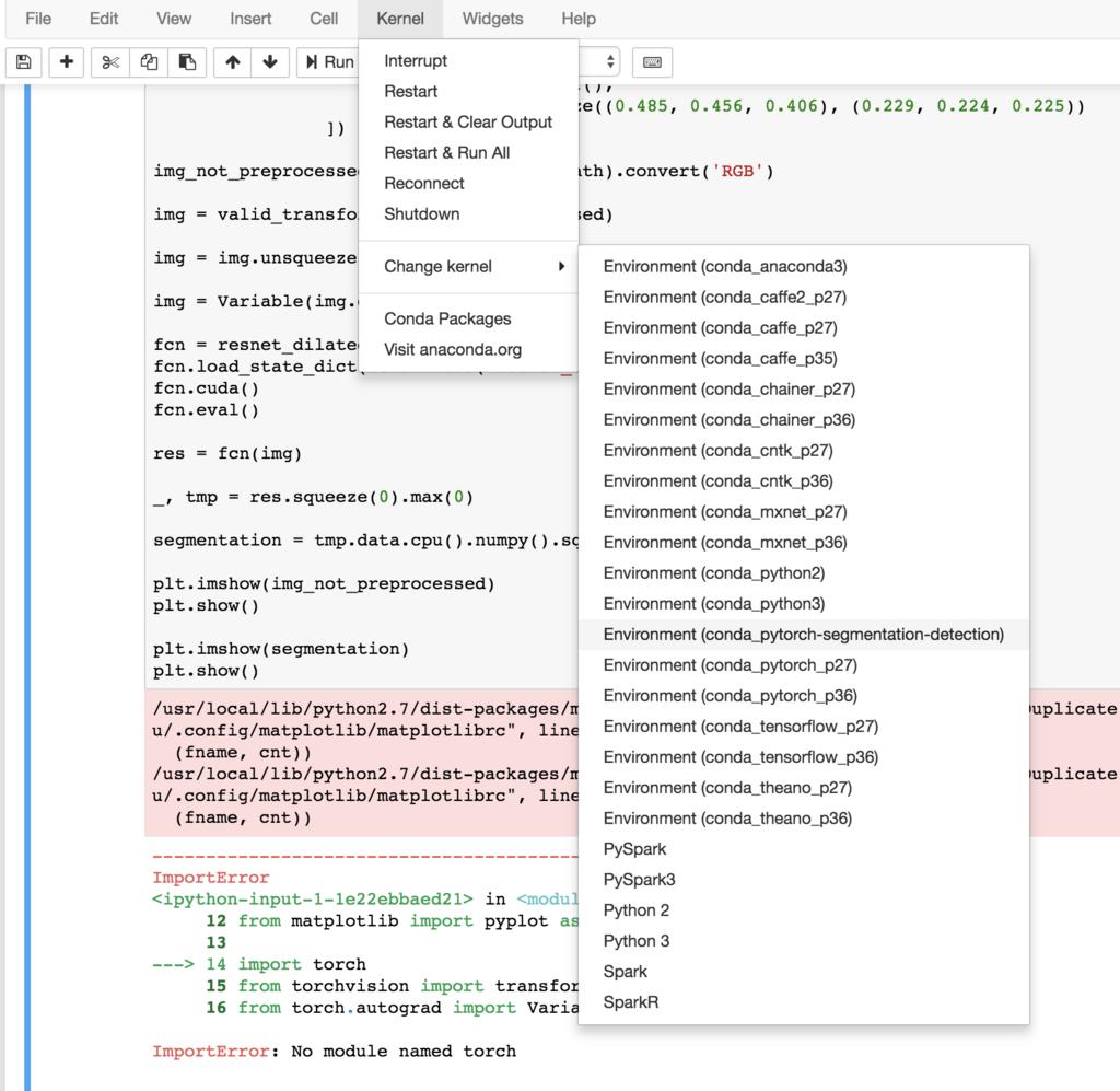 シェルでは使えているPythonモジュールをJupyterNotebookで実行