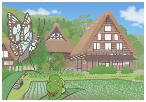 白川郷へGO!with蝶