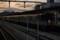 老兵、夕日を背に受けて。@姫路駅